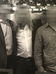 This photo shows the three men believed to be undercover