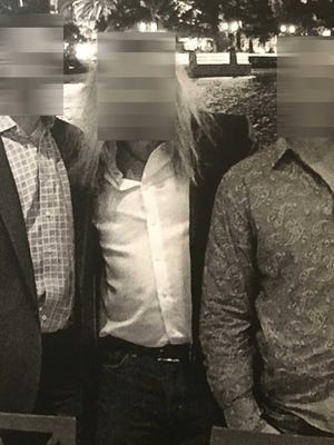 This photo shows the three men believed to be undercover FBI agents who used aliases and cover stories as part of an investigation in Tallahassee. Pictured from left are Mike Miller, Mike Sweets and Brian Butler. The Democrat decided to blur the physical characteristics of the men after discussions with the FBI.