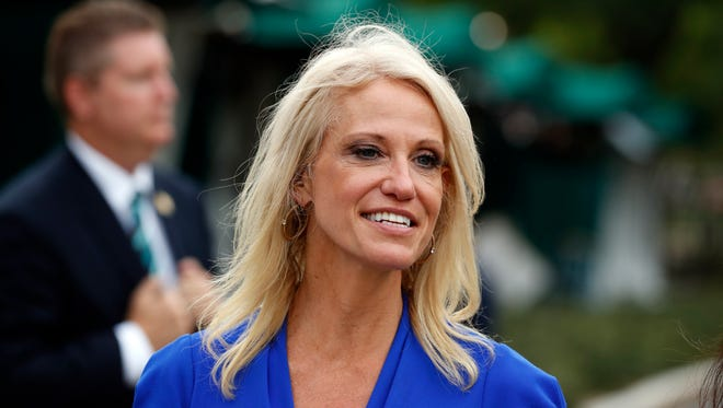 """Kellyanne Conway, counselor to President Donald Trump, said Sunday on CBS' Face the Nation that the press is not the """"enemy of the people"""" as Trump has called the media."""