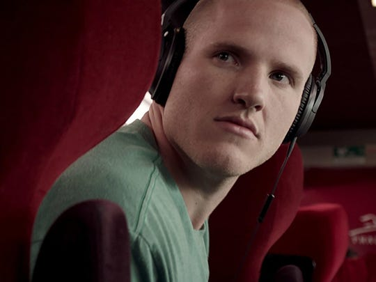 """Along with two other veterans, Spencer Stone re-enacts some real-life heroics in """"The 15:17 to Paris."""""""