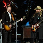 Justin Timberlake and Chris Stapleton, making our hearts stop at the CMA Awards this year.