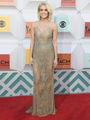 Carrie Underwood on the red carpet at the 51st Academy