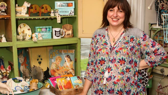 Christine Francis, owner of Carmen and Ginger on Main Road, Tiverton.