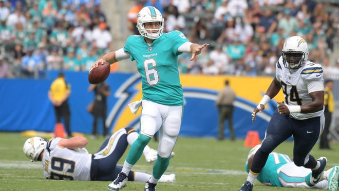 Jay Cutler threw for 230 yards and a touchdown in the Dolphins' opener last week.