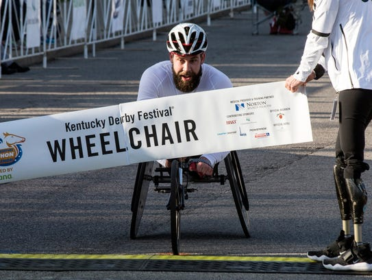 Wheelchair division winner Aaron Pike destroyed his