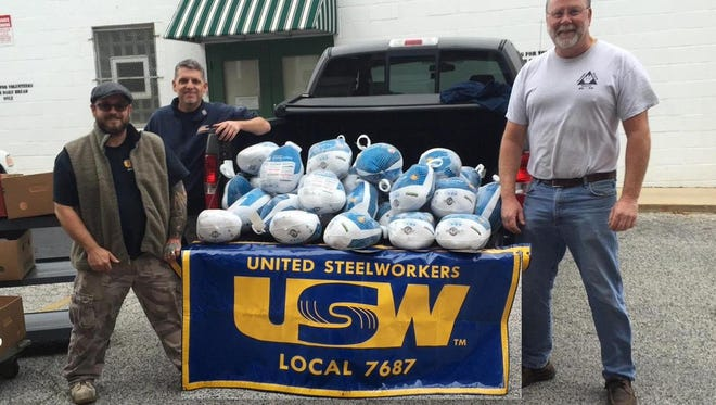 United Steelworkers Local 7687 has donated 39 birds, weighing more than 600 pounds in all, to Our Daily Bread, as part of its second Turkey Drive.