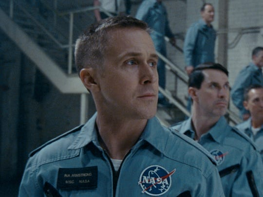 "Ryan Gosling re-teams with director Damien Chazelle for ""First Man."""