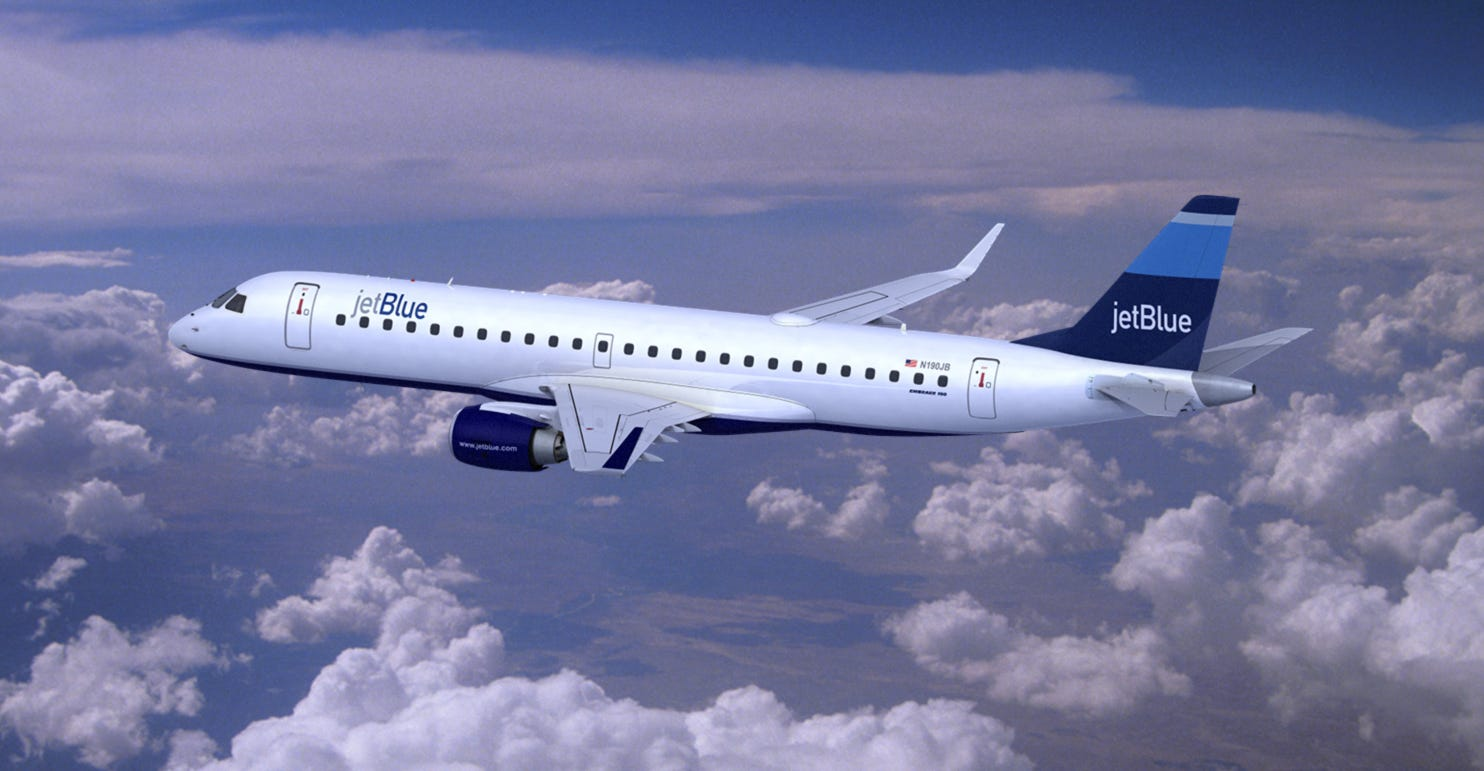 JetBlue paints one of its planes to honor military vets
