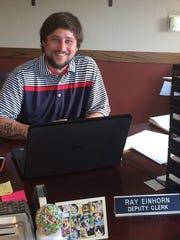 Ray Einhorn, Baileys Harbor deputy town clerk