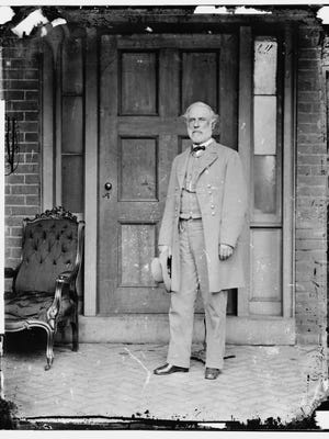 RICHMOND, VA - APRIL 16:   In this image from the U.S. Library of Congress, Confederate Gen. Robert E. Lee stands for a portrait April 16, 1865 in Richmond, Virginia. (Photo by Mathew Brady/U.S. Library of Congress via Getty Images)