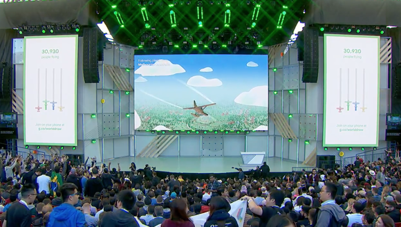 Screenshot from Google I/O 2018 in Mountain View, California