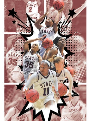 A special poster page produced by the Clarion Ledger to commemorate the Sweet 16 appearance by the Mississippi State women.