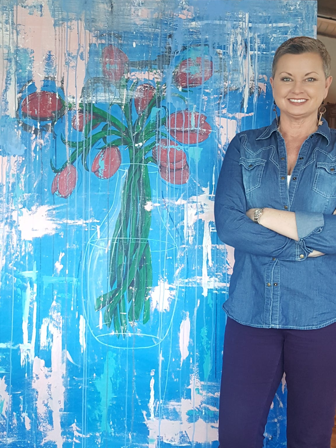 Cheryl Votzmeyer, artist and education director at