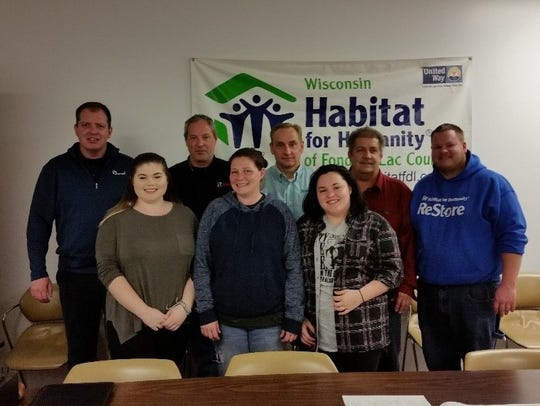 Pictured are Habitat Build committee members viewing