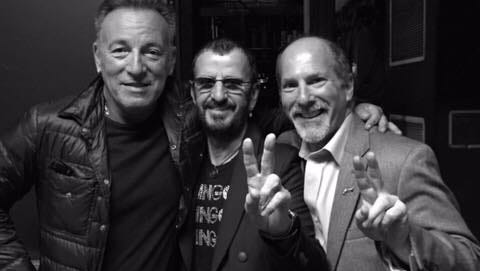 Bruce Springsteen, Ringo Starr and Wayne LeBeaux backstage at the State Theatre in New Brunswick on Sunday, Oct. 25..