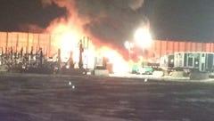 Worker injured in oil site explosion, fire near Windsor