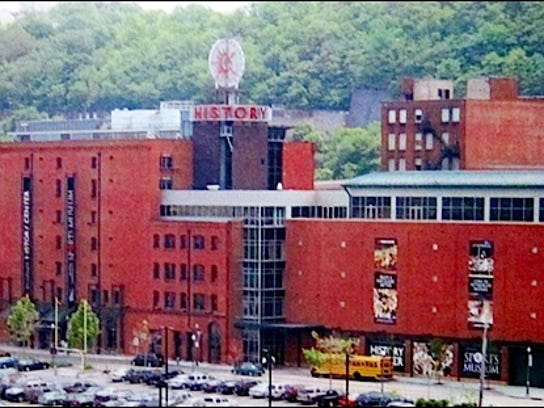 """Photo within exhibit """"Frozen in Time--The Story of our Building"""" at the Senator John Heinz History Center, Pittsburgh, PA (2015 Photo by S. H. Smith)"""