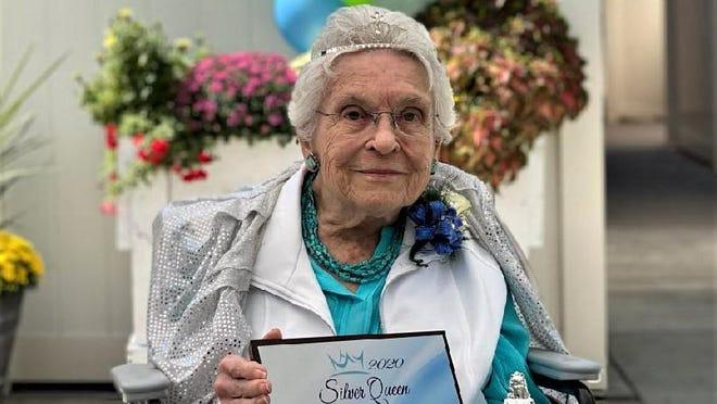 Berna Rizer, 96. representing Sharmar Village, is the 2020 Colorado State Fair Silver Queen.
