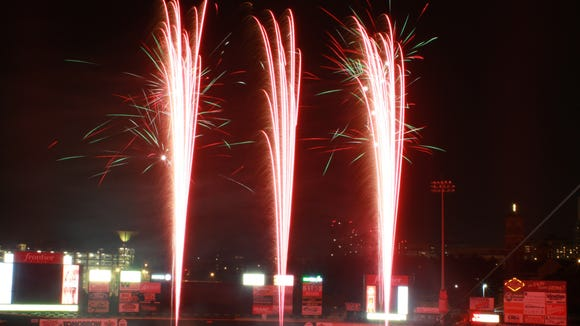 Fireworks light up the sky every Friday and Saturday home game at Frontier.
