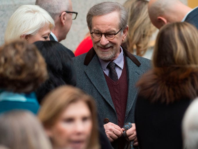 Director Steven Spielberg arrives for the unveiling