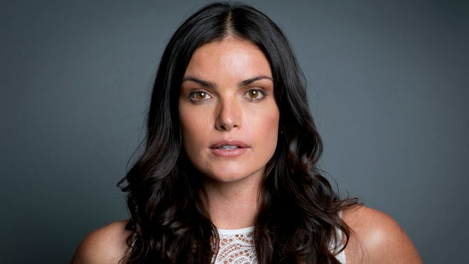 """Former """"The Bachelor"""" winner Courtney Robertson poses for a portrait in New York to promote her book """"I Didn't Come Here to Make Friends: Confessions of a Reality Show Villain"""" on June 24, 2014."""