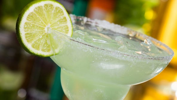 Stock image of margarita cocktail with lime