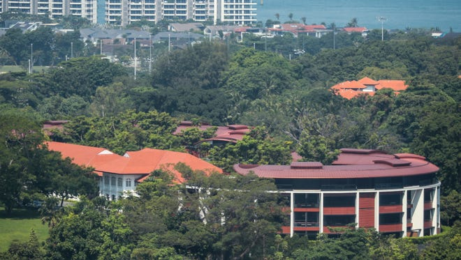 A general view shows the Capella Hotel on the island of Sentosa in Singapore, June 6, 2018.