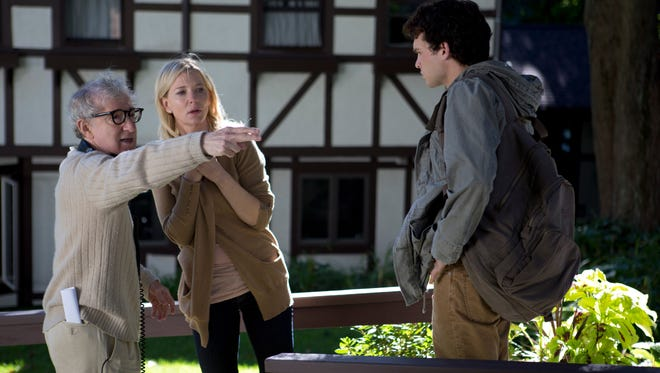 Director Woody Allen, left, and star Cate Blanchett on the set of 'Blue Jasmine.'