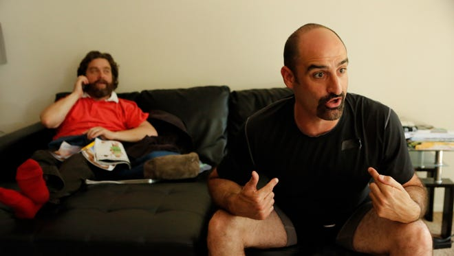 Brody Stevens, right, and Zach Galifianakis on Comedy Central's 'Brody Stevens: Enjoy It!'
