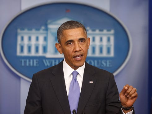 President Obama speaks about his signature health care law on Nov. 14, 2013, at the White House.