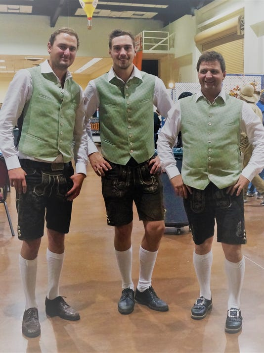 The Family Holler musicians, left to right: Josef Holler, Gunther Holler, and Philipp Rofner came from Austria to entertain at the Ruidoso Oktoberfest last weekend.