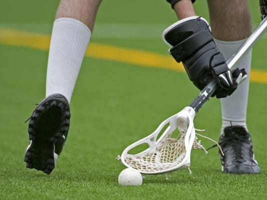 lacrosse feet, hands, basket, ball
