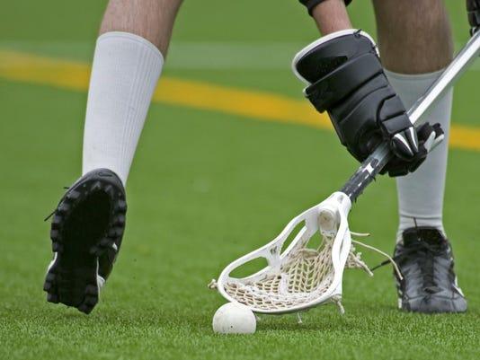 lacrosse feet, hands, basket, ball