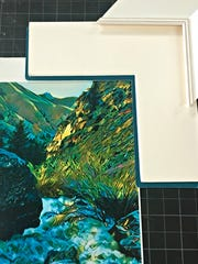 With a mat cutter, a premade frame and a custom cut