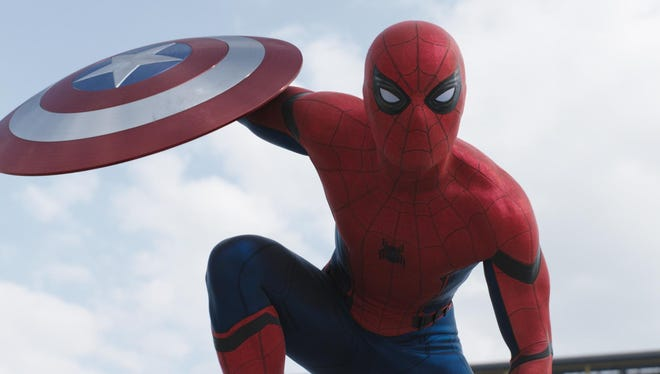 """Tom Holland makes his debut as Peter Parker/Spider-Man in """"Captain America: Civil War."""""""