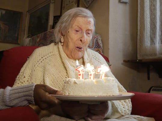 APTOPIX Italy Oldest Woman