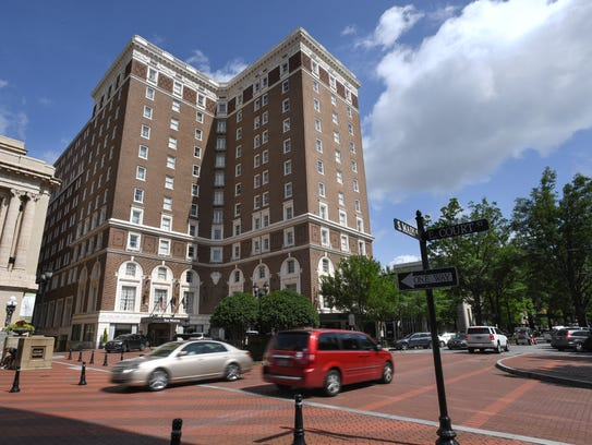 The Poinsett Hotel on Main St. in downtown Greenville