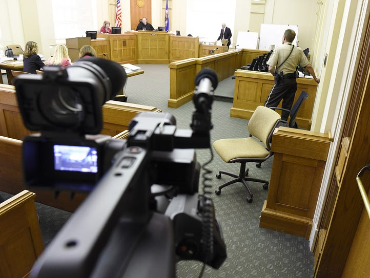 A rare courtroom image shows Day 3 of the civil  trial