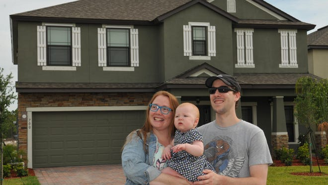Natasha and Alexander Groden, and their 9-month-old daughter Elleanor, just moved into a new home in West Melbourne.