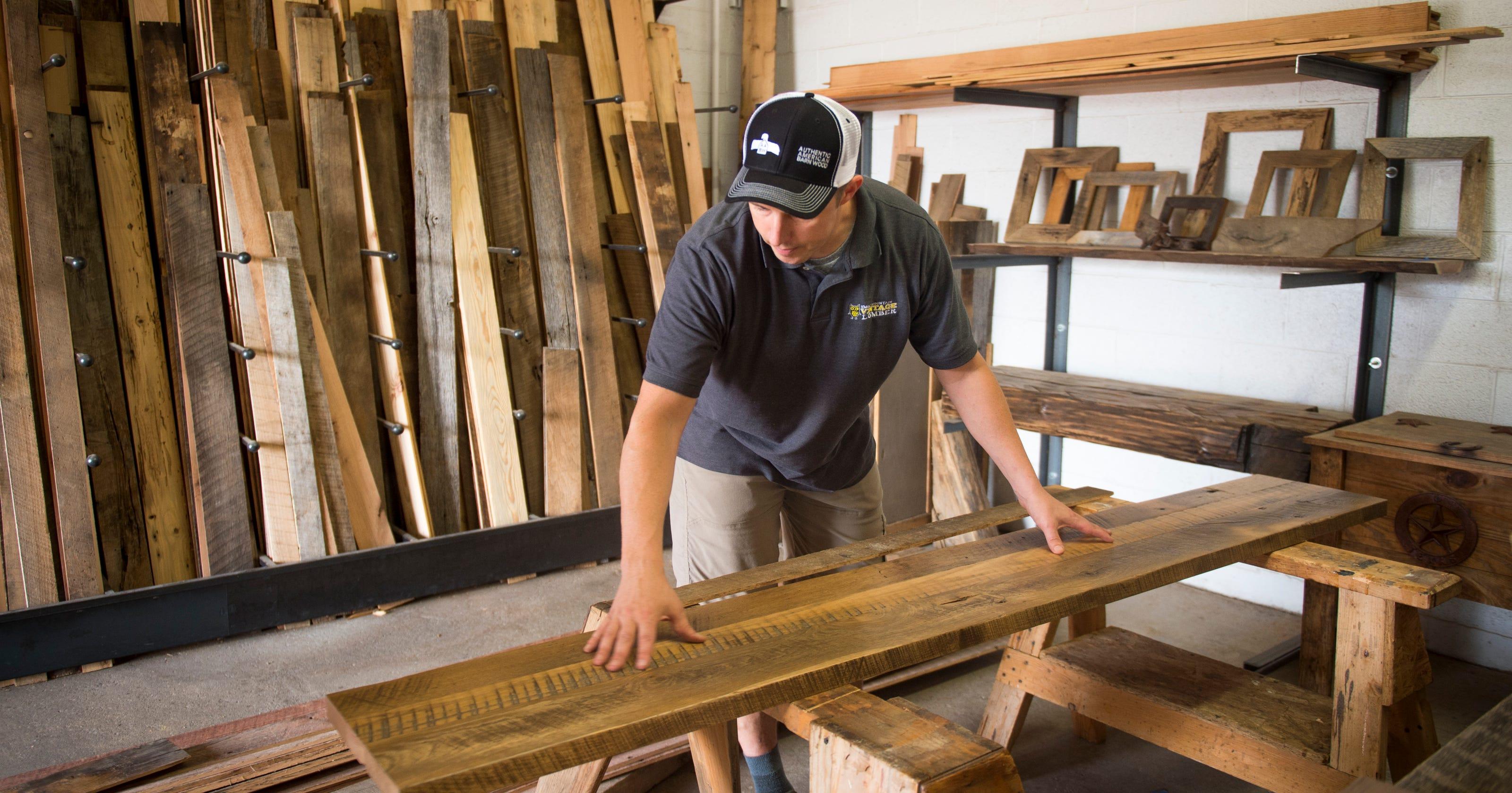 Smoky Mountain Vintage Lumber Creates Custom Furniture From Reclaimed Wood