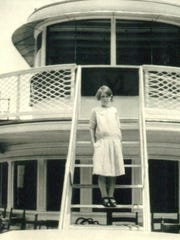Elizabeth Reeves on the steamship Ticonderoga in 1928.