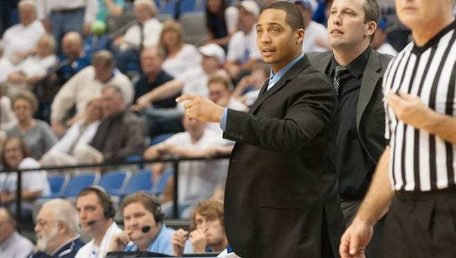 Harrison graduate David Ragland, currently an assistant at Utah State, is pictured here during his previous stint at Indiana State.