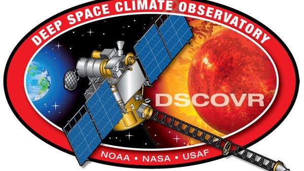 Deep Space Climate Observatory (DSCOVR) mission patch.