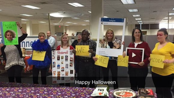 YDR staffers celebrate Halloween by representing different
