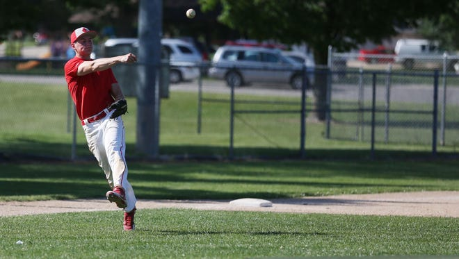 The City High baseball team practices at Mercer Park on Tuesday, June 9, 2015 in Iowa City.