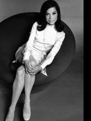 "Actress Mary Tyler Moore poses in 1970, before the premiere of her television series, ""The Mary Tyler Moore Show."""