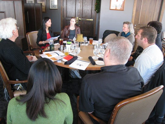 Most of the group who will be traveling to China next week gathered at the Embassy Club for a meeting.