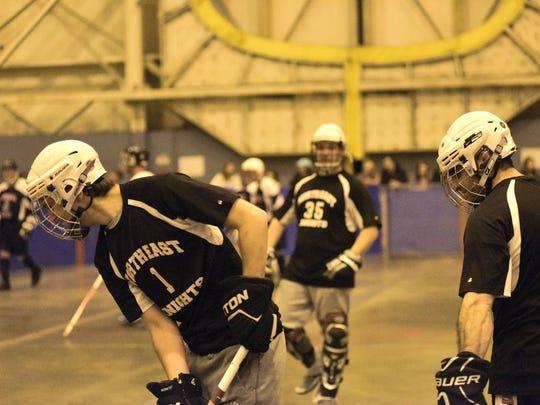A Special Olympics New York floor hockey team on Saturday