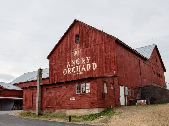 Taste Angry Orchard Rosé onsite at the 60-acre orchard, cider house, barrel room and cider garden in Walden, N.Y.