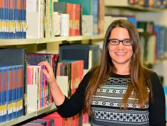 Britt McGowan, assistant librarian at the UWF Library,